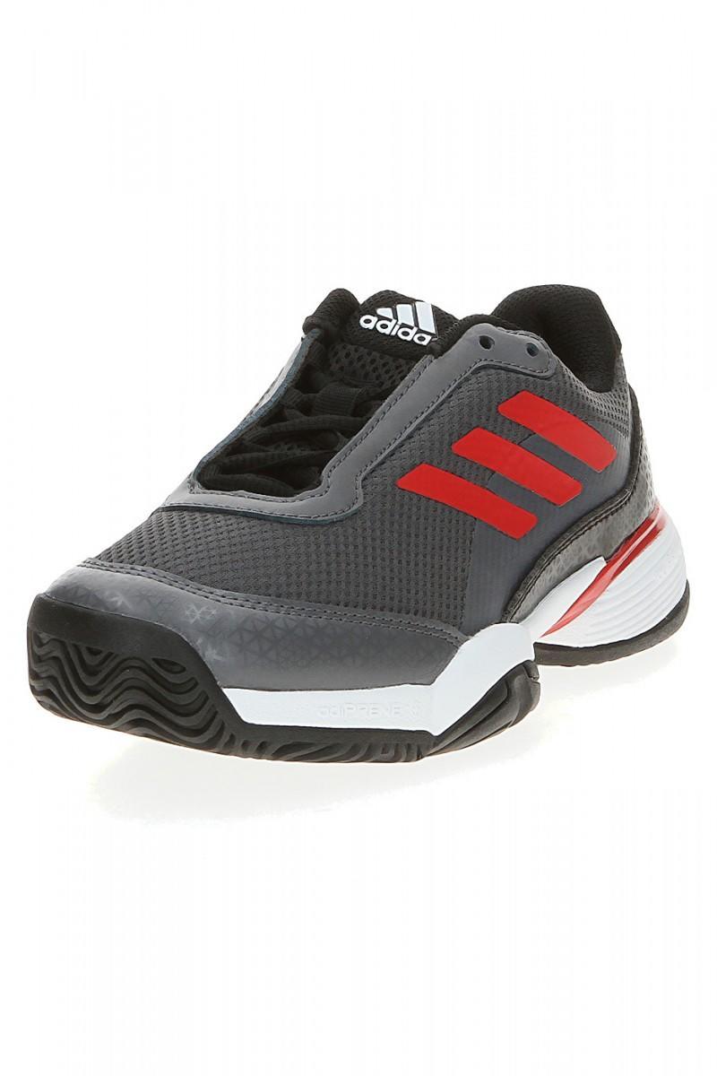 Детские теннисные кроссовки adidas Barricade Club xJ black/scarlet/white