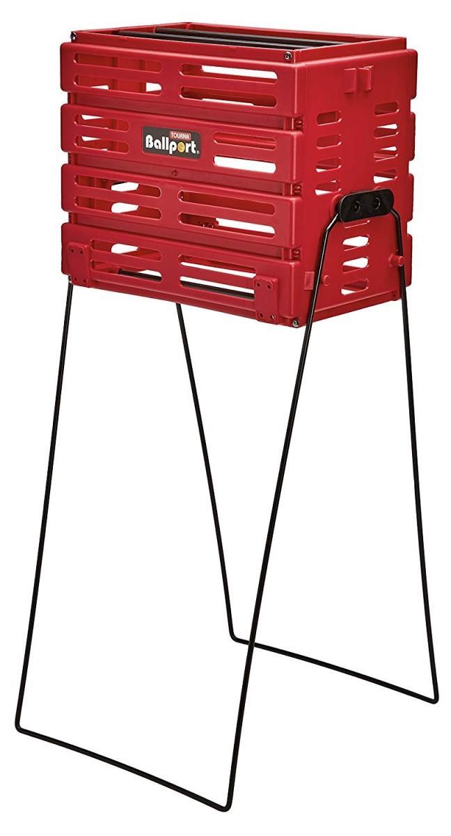 Тенісна корзина Tourna Ballport 80-red для м