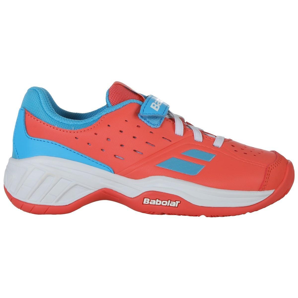 Детские теннисные кроссовки Babolat Pulsion All Court Kid pink/sky blue