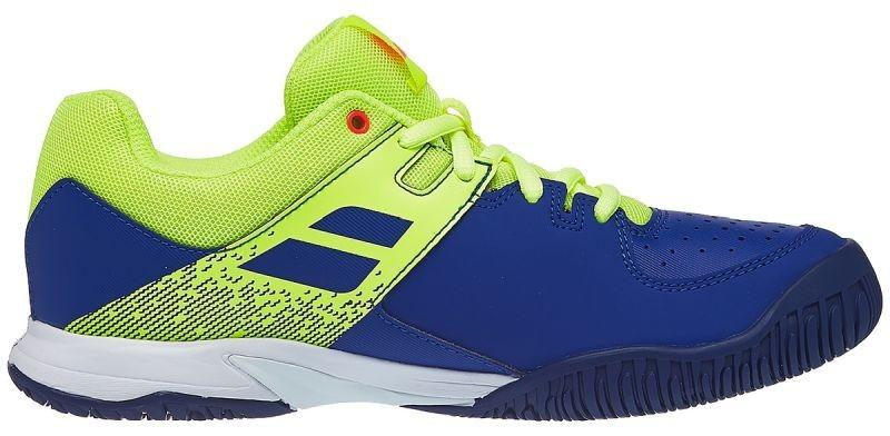 Детские теннисные кроссовки Babolat Pulsion All Court Junior blue/fluo aero