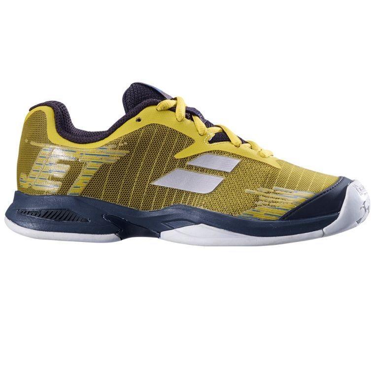 Детские теннисные кроссовки Babolat Jet All Court Junior dark yellow/black