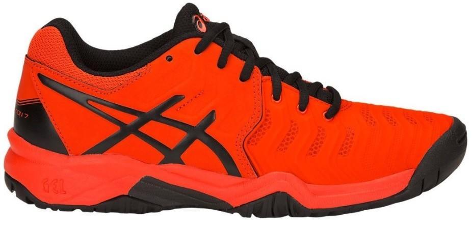 Детские теннисные кроссовки Asics Gel-Resolution 7 GS cherry tomato/black