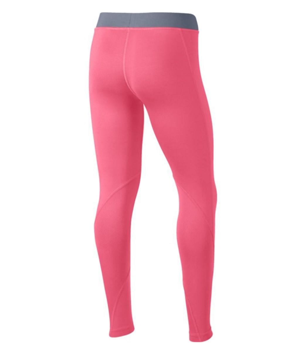 Леггинсы детские Nike Pro Long Tights pink/grey