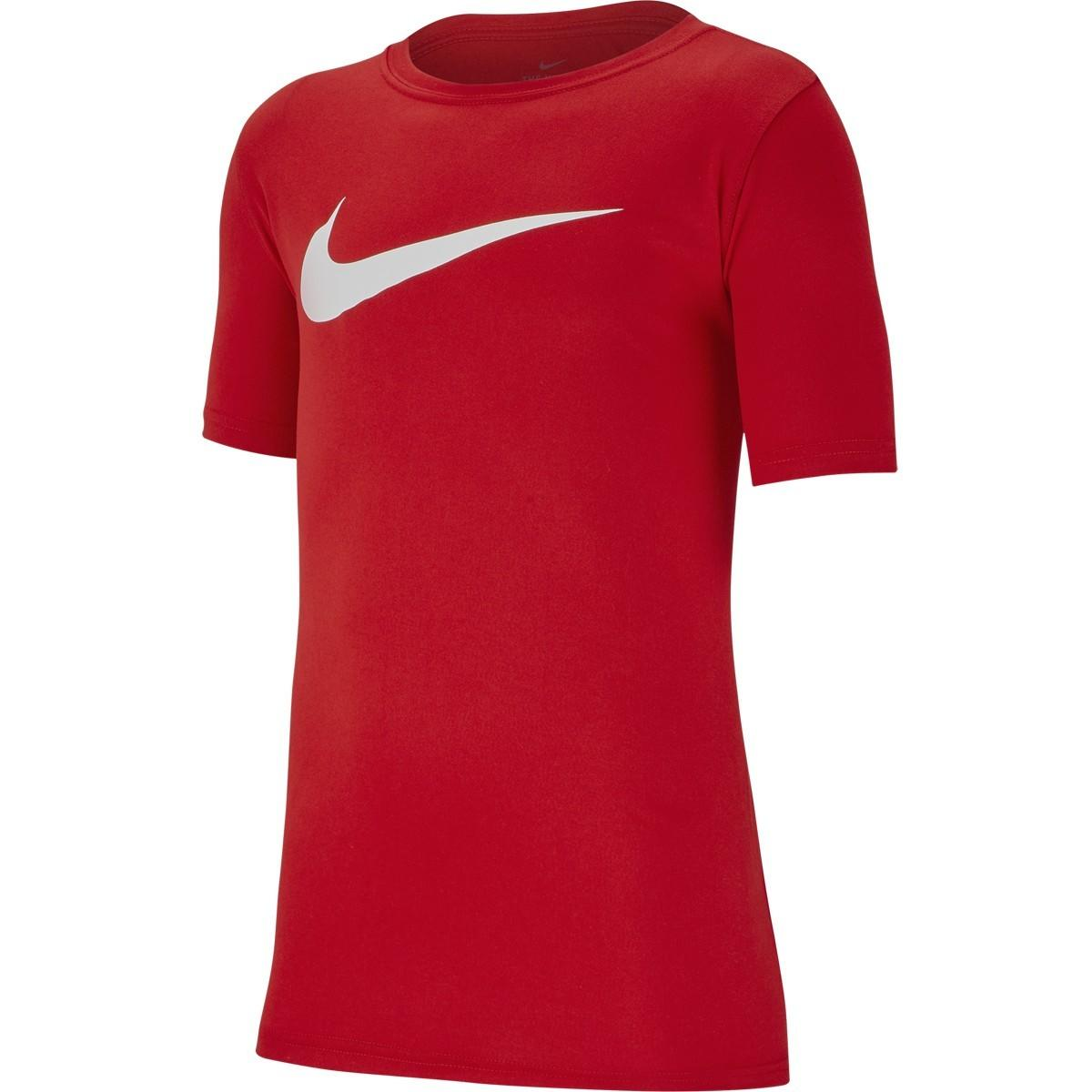 Теннисная футболка детская Nike Boy's Spring Dry Legend Swoosh Crew red