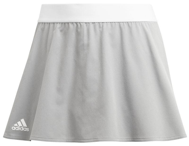 Теннисная юбка женская Adidas Escouade Skirt light granite/shock red