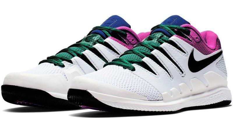 Теннисные кроссовки мужские Nike Air Zoom Vapor 10 HC white/black/platinum tint