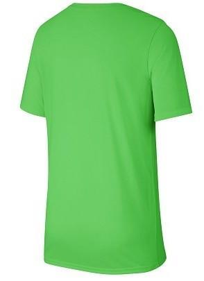 Теннисная футболка детская Nike Boy's Spring Dry Legend Swoosh Crew lime green