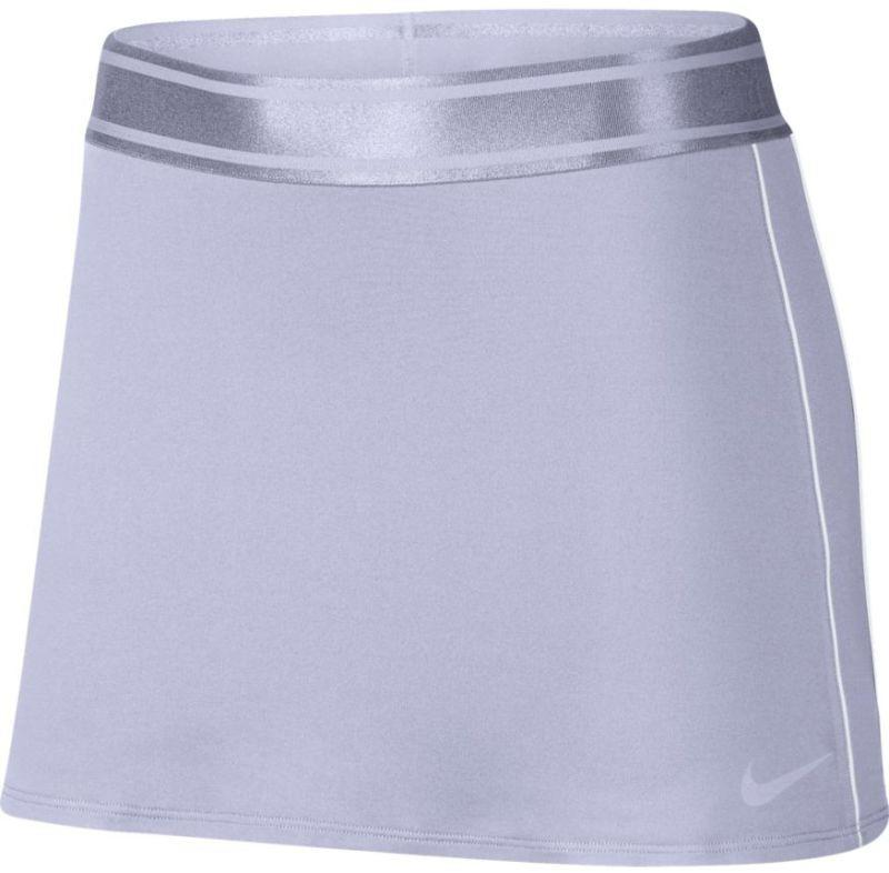 Теннисная юбка женская Nike Court Dry Skirt oxygen purple/white/white/oxygen purple