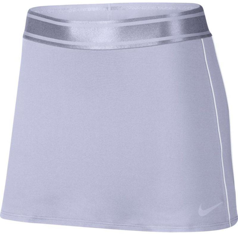 Теннисная юбка женская Nike Court Dry Skirt oxygen purple/white/white/oxygen purple