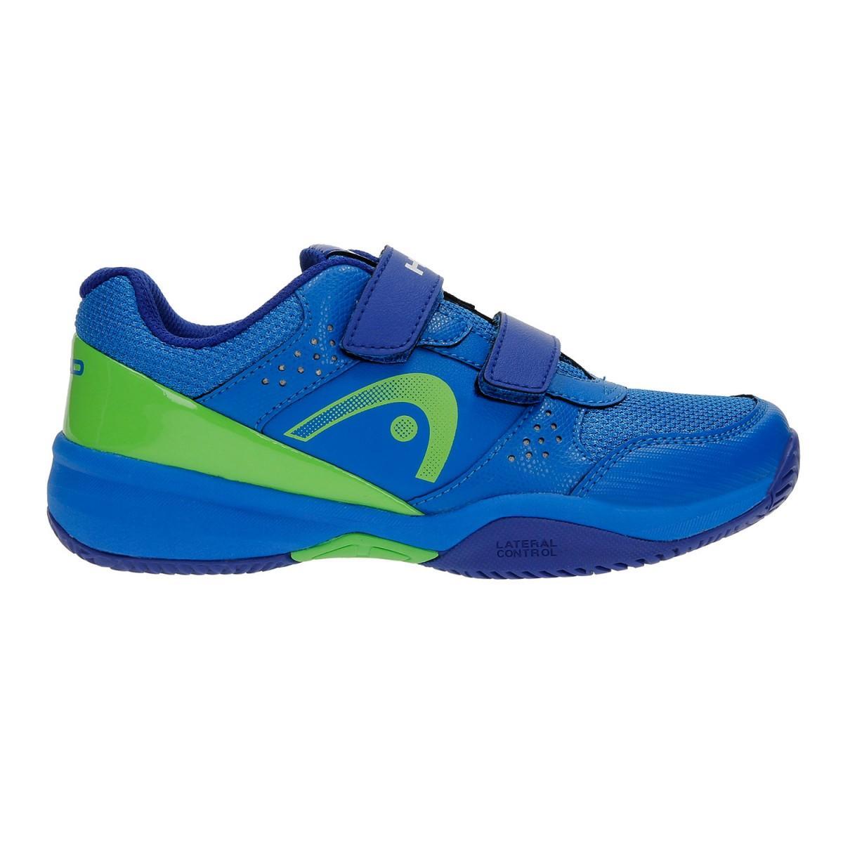 Детские теннисные кроссовки Head Junior Sprint Velcro 2.0 blue/green