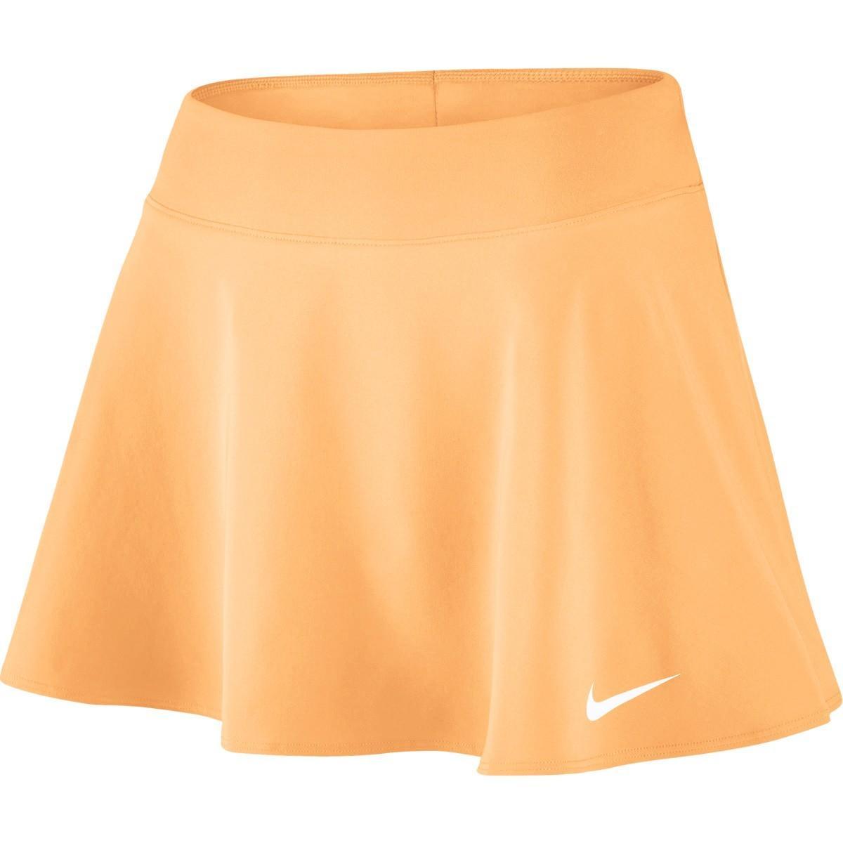 Теннисная юбка женская Nike Court FLX Pure Skirt Flouncy tangerine tint