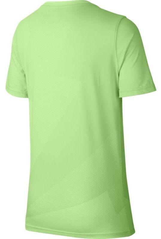 Теннисная футболка детская Nike Court Rafa GX Tee Boys barely volt/light carbon