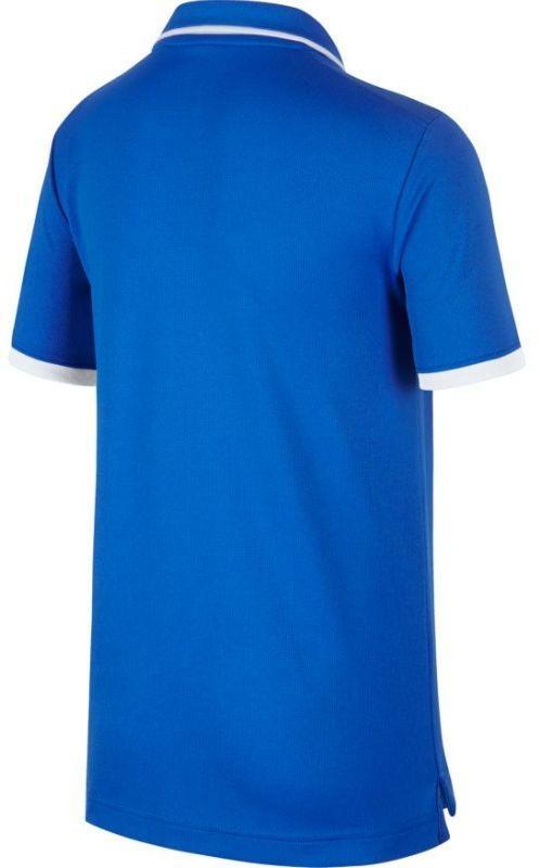 Теннисная футболка детская Nike Court B Dry Polo Team signal blue/white поло