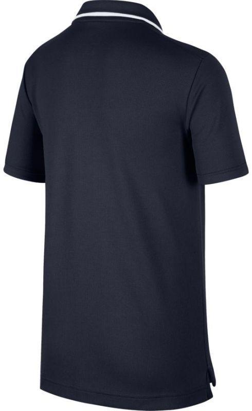 Теннисная футболка детская Nike Court B Dry Polo Team obsidian/white поло