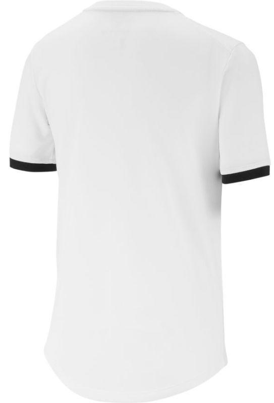 Теннисная футболка детская Nike Court Dry Top SS Boys white/black/black