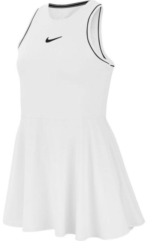 Теннисное платье для девочек Nike Court G Dry Dress white/black