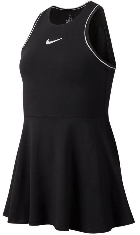 Теннисное платье для девочек Nike Court G Dry Dress black/white