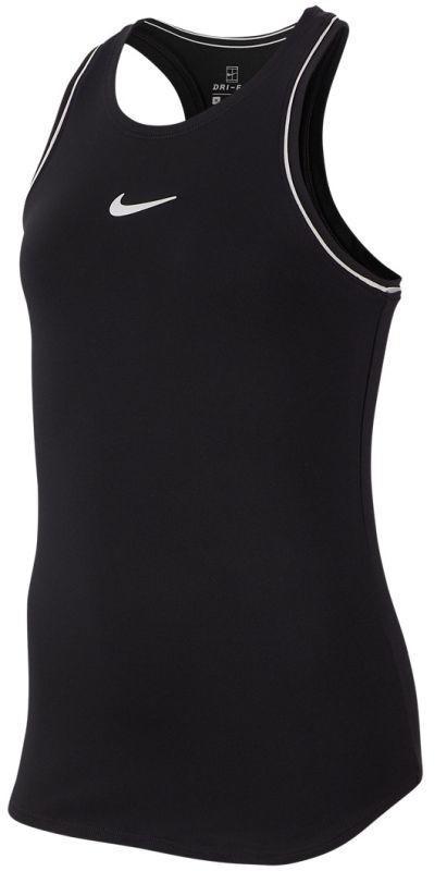 Теннисная майка детская Nike Court Girls Dry Tank black/white