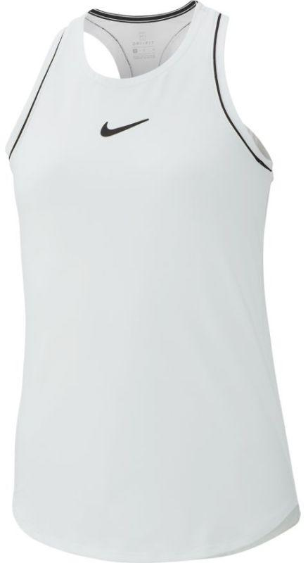 Теннисная майка детская Nike Court Girls Dry Tank white/black/black/black