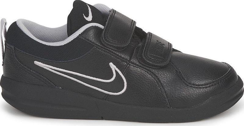 Детские теннисные кроссовки Nike Pico 4 (PSV) black/black/mettalic silver
