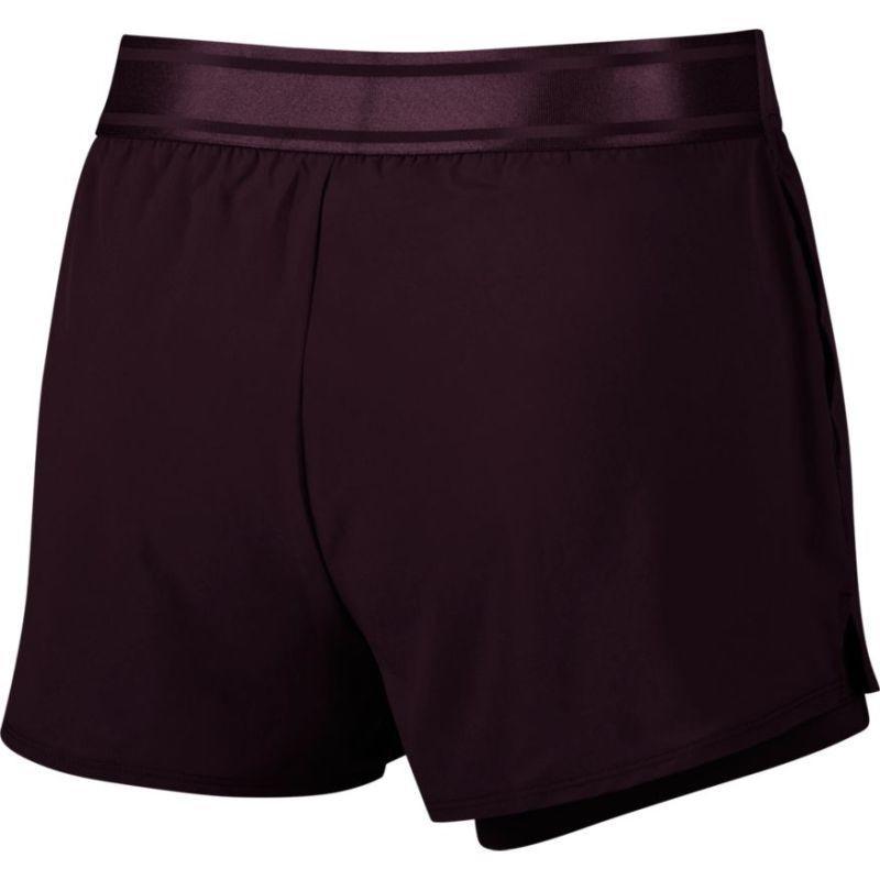 Тенісні шорти жіночі Nike Court Flex Short burgundy ash/burgundy ash