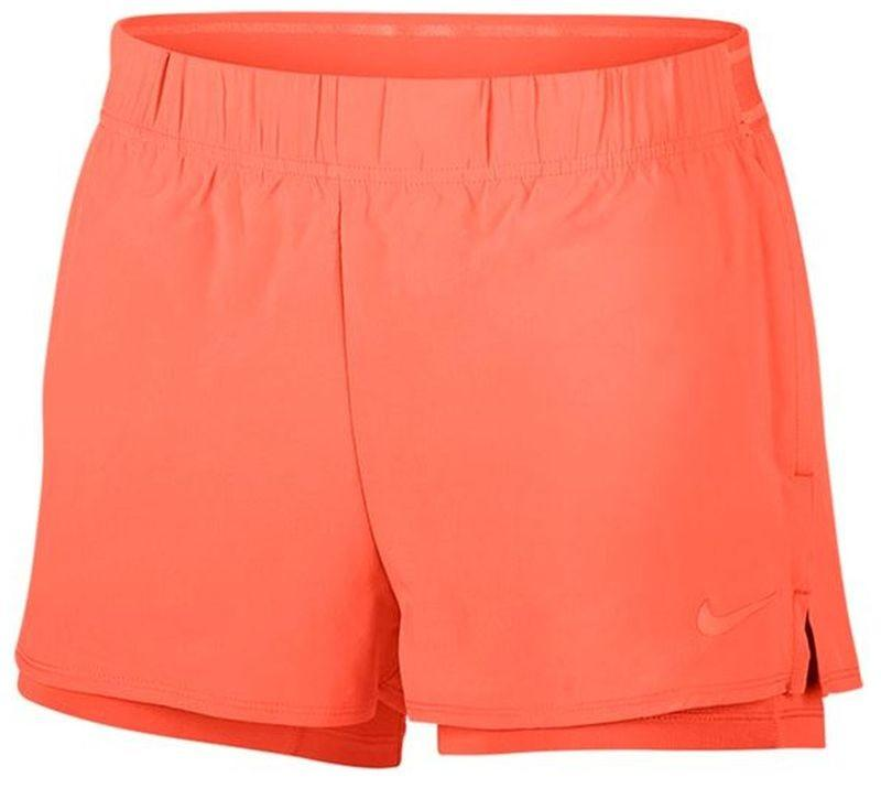 Теннисные шорты женские Nike Court Flex Short orange pulse/orange pulse