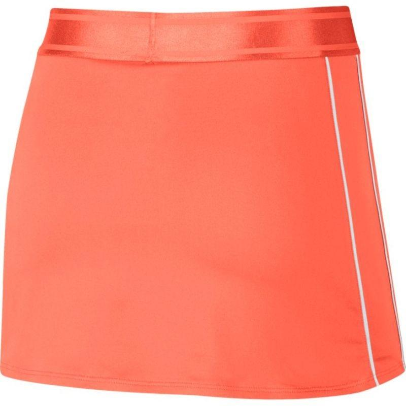Теннисная юбка женская Nike Court Dry Skirt orange pulse/white/white/orange pulse