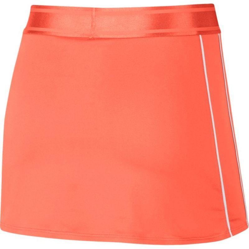 Теннисная юбка женская Nike Court Dry Skirt orange pulse/white/white/orange pulse