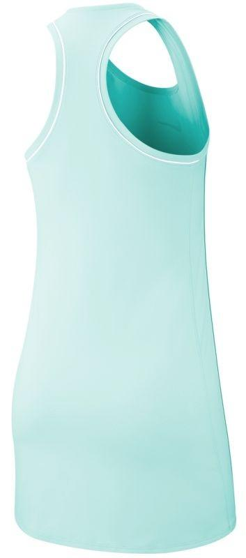 Теннисное платье женское Nike Court Dry Dress teal tint/white/teal tint