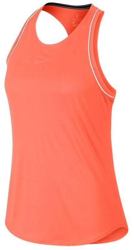 Теннисная майка женская Nike Court Dry Tank orange pulse/white/white/orange pulse