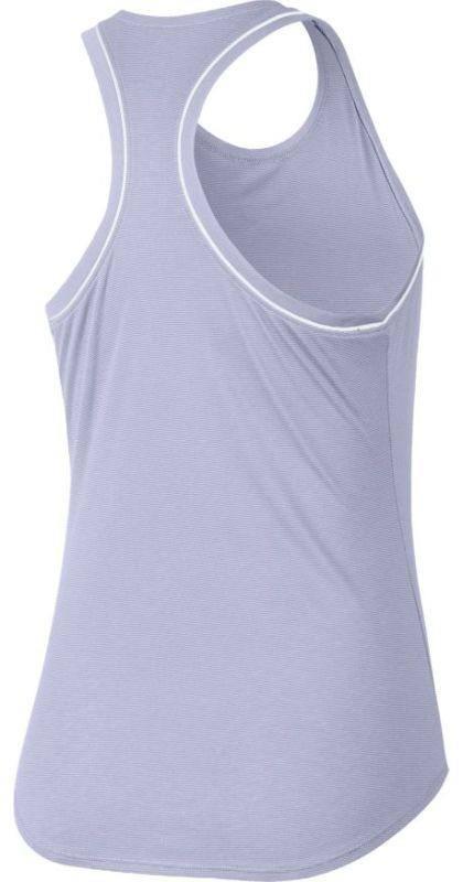 Теннисная майка женская Nike Court Dry Tank oxygen purple/white/white/oxygen purple