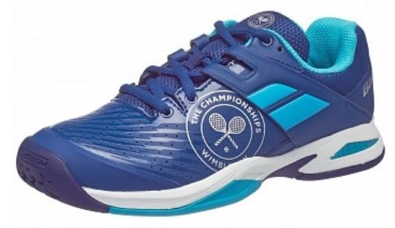 Детские теннисные кроссовки Babolat Junior Propulse All Court Wimbledon blue/light blue