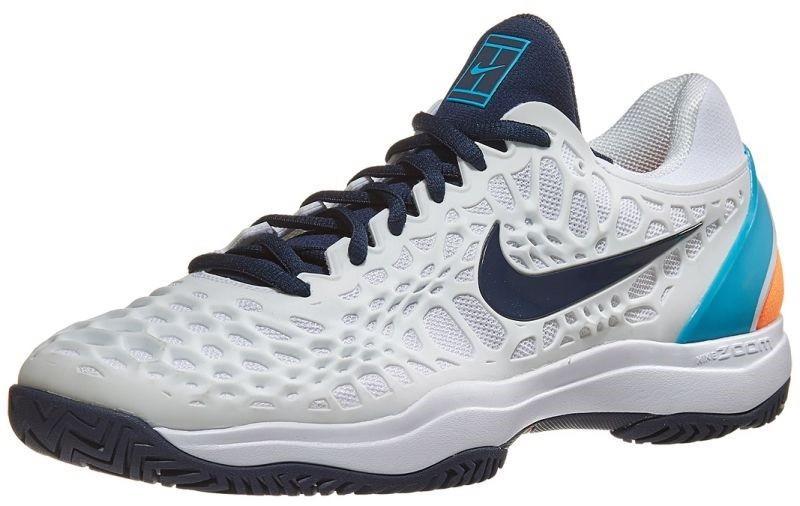 half off ce50e e35dc Теннисные кроссовки мужские Nike Air Zoom Cage 3 HC white obsidian light  carbon
