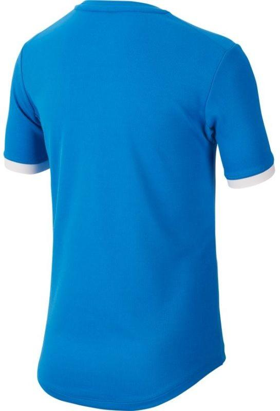 Теннисная футболка детская Nike Court Dry Top SS Boys signal blue/white/white