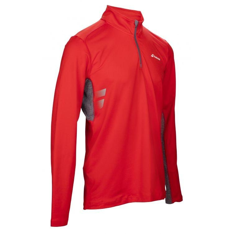 Тенниска мужская Babolat 1/2 Zip Core Men fluo red