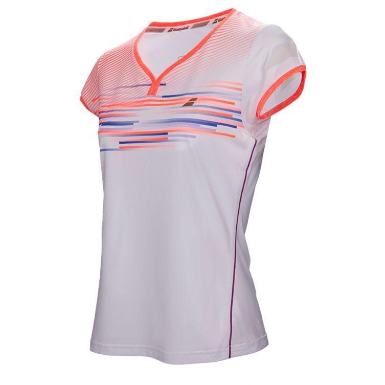 Теннисная футболка женская Babolat Performance Cap Sleeve Top Women white