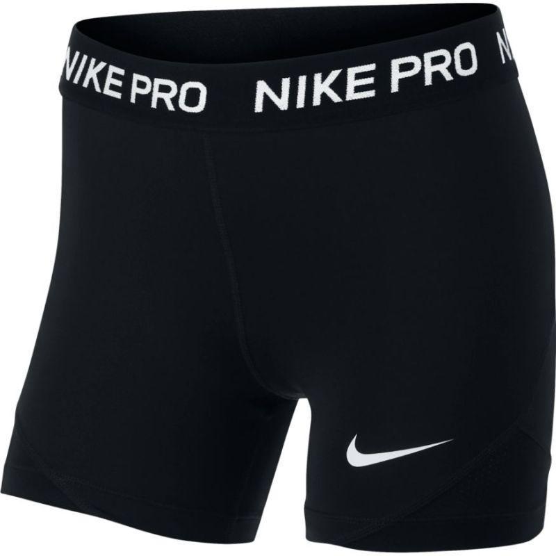 Теннисные шорты детские Nike Pro Short G black/black/black/white