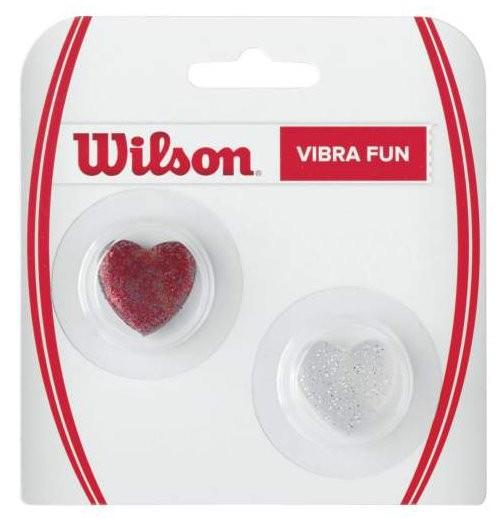 Виброгаситель Wilson Vibra Fun Glitter Hearts red/white