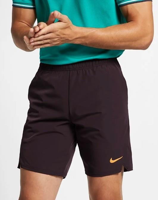 4a4cb2f0af043b ... Тенісні шорти чоловічі Nike Flex Ace 9IN Short burgundy ash/canyon gold  ...