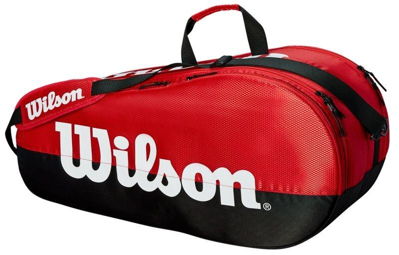Теннисная сумка Wilson Team 2 Comp 6 Pk black/red