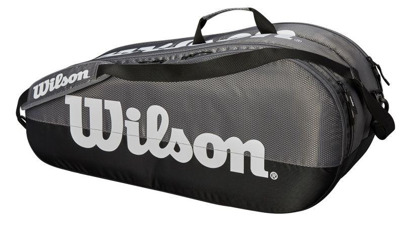 Теннисная сумка Wilson Team 2 Comp 6 Pk grey/black