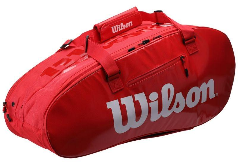 Теннисная сумка Wilson Super Tour 2 Comp Large 9 Pk red