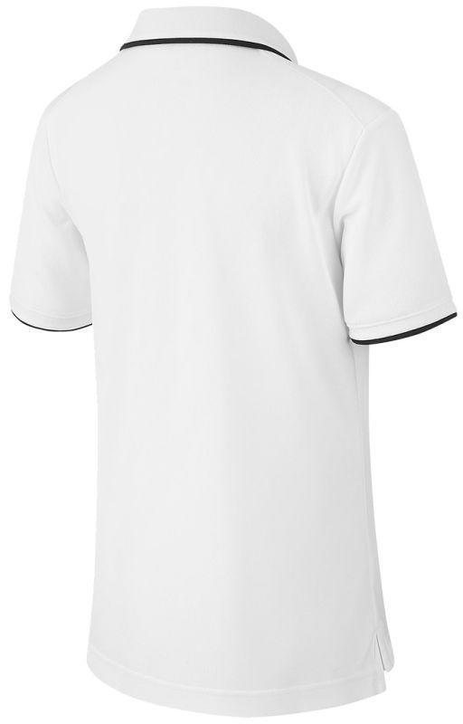 Теннисная футболка детская Nike Court B Dry Polo Team white/black поло