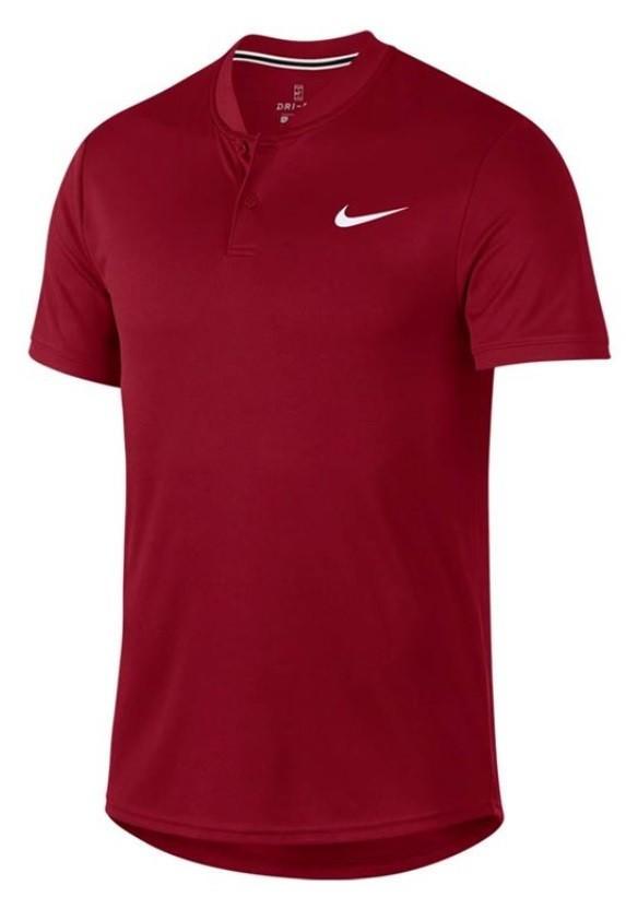 f6483a8f Теннисная футболка мужская Nike Court Dry Blade Polo team crimson/white