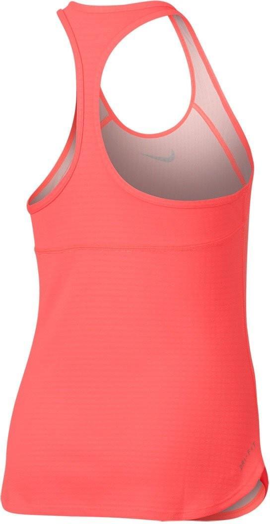 Теннисная майка детская Nike Dry Tank Slam YTH hot punch/midnight navy
