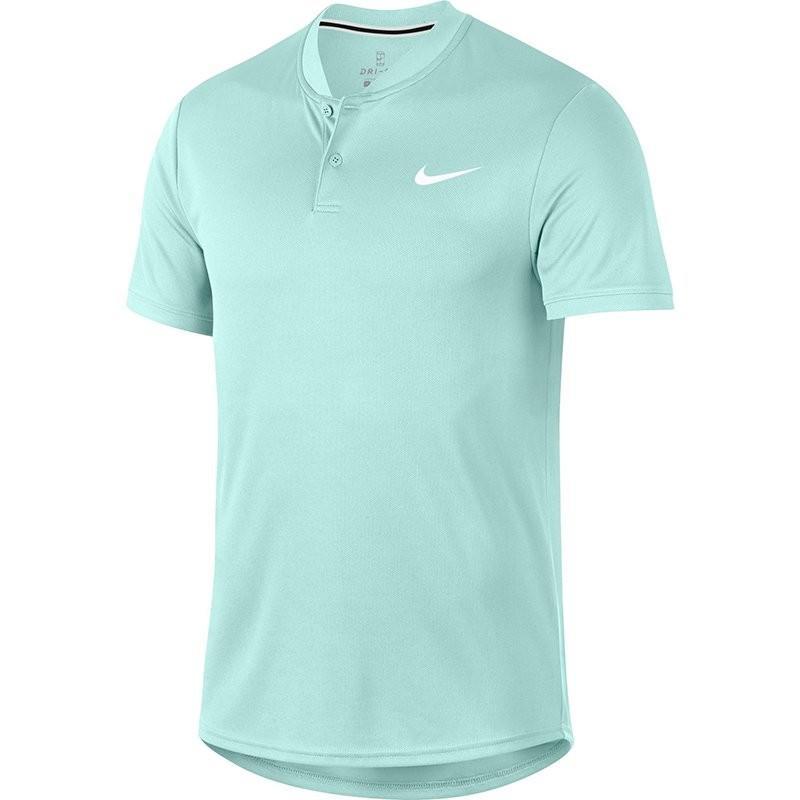 823b9472 Теннисная футболка мужская Nike Court Dry Blade Polo teal tint/white ...