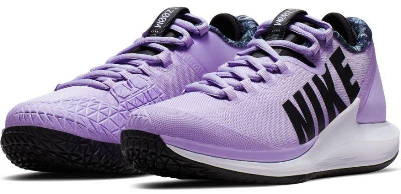 Теннисные кроссовки женские Nike W Court Air Zoom Zero purple agate/black/white