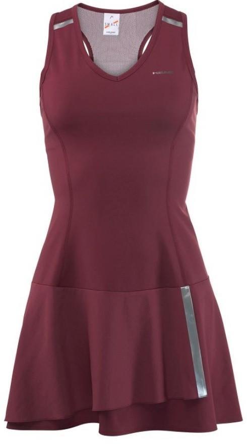 Теннисное платье женское Head Performance Dress burgundy