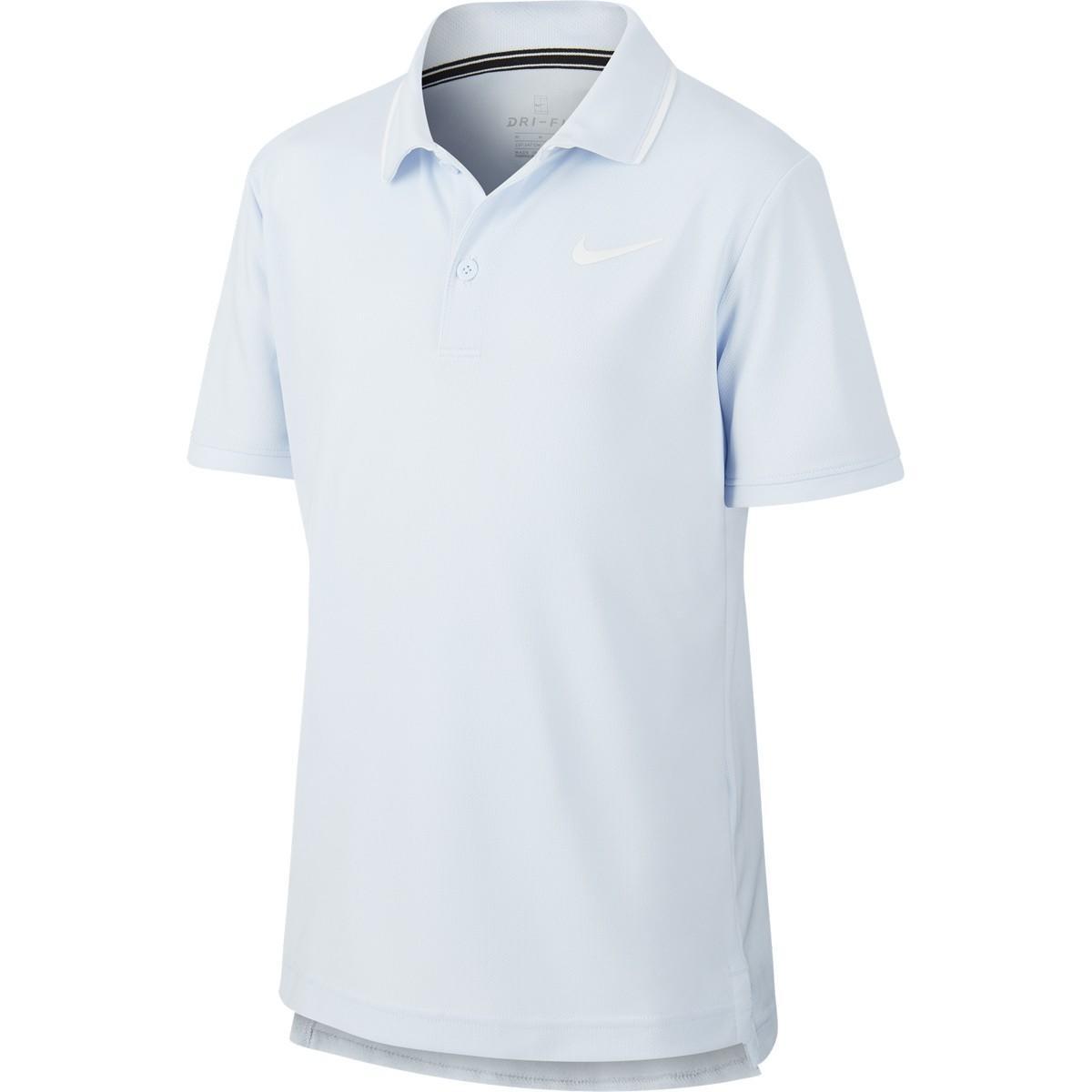 Теннисная футболка детская Nike Court Dry Polo light blue поло