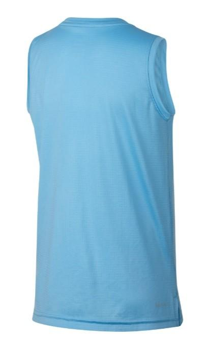 Теннисная майка детская Nike Sleeveless Training Top blue gaze/dark grey
